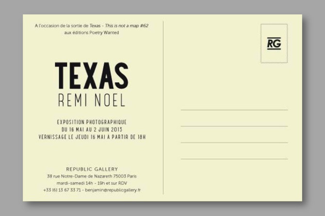 REPUBLIC GALLERY, opening of the TEXAS exhibition