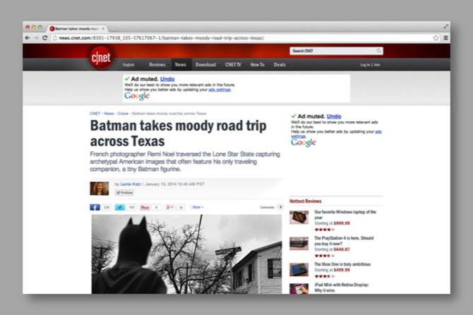 BATMAN HITS THE WEB